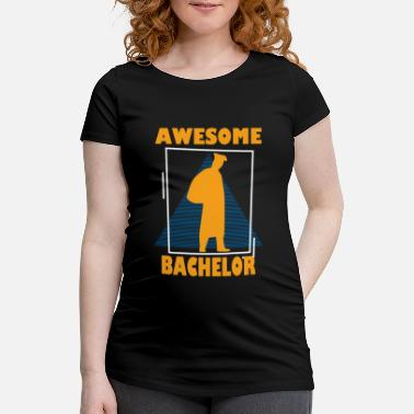 Career Retro Bachelor Graphic T-Shirt - Maternity T-Shirt
