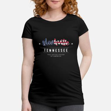 Country Nashville Country Music USA Tennessee Gift - Maternity T-Shirt
