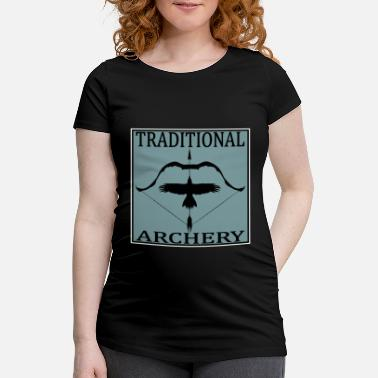 Post Traditional Archery - Schwangerschafts-T-Shirt