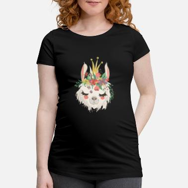 Jewelry Alpaca with jewelry - Maternity T-Shirt