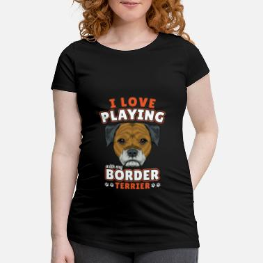 Borderlands Border Terrier - T-shirt de grossesse
