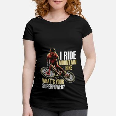 i ride montain bike - Maternity T-Shirt