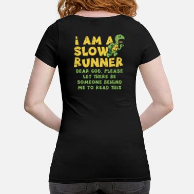 Runner Slow runner turtle jogging running runner - Maternity T-Shirt