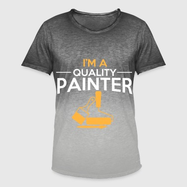 Painter and painter painter gift idea - Men's T-Shirt with colour gradients