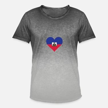 Fighting Cock A Heart For Haiti - Men's Colour Gradient T-Shirt