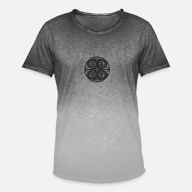 Spiral Celtic Celtic spiral in gray / white - Men's T-Shirt with colour gradients