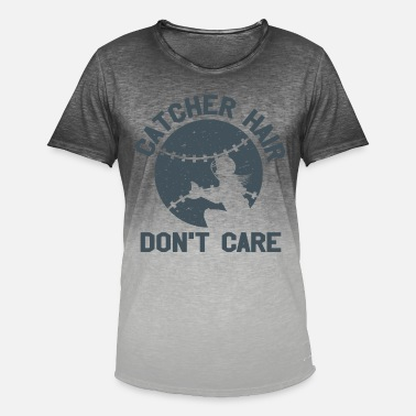 Softball Catcher Hair Do not Care Softball Ball Sport Player - Mannen kleurverloop T-Shirt