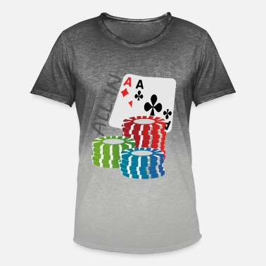 Aline Poker AllIn - T-shirt dégradé Homme