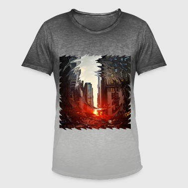 Creative City City - Men's T-Shirt with colour gradients