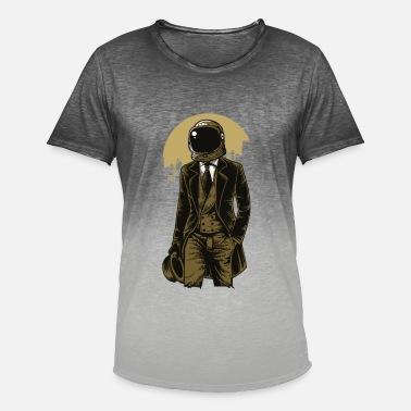 Space Flight Astronaut space space flight - Men's T-Shirt with colour gradients