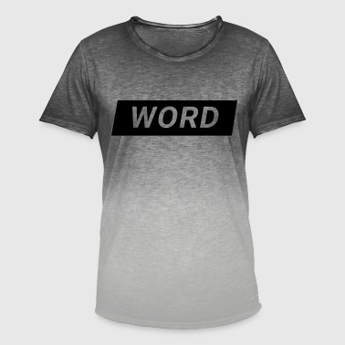 Wording word - Men's T-Shirt with colour gradients