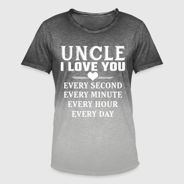 I Love You Uncle - Men's T-Shirt with colour gradients