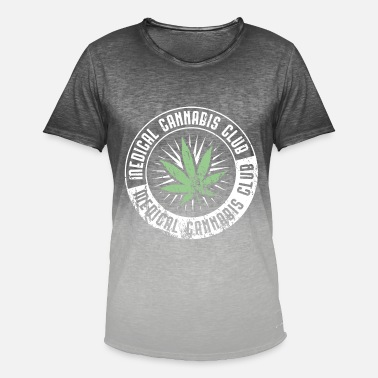 Smoke Hemp medicine smoking weed hemp cannabis - Men's T-Shirt with colour gradients