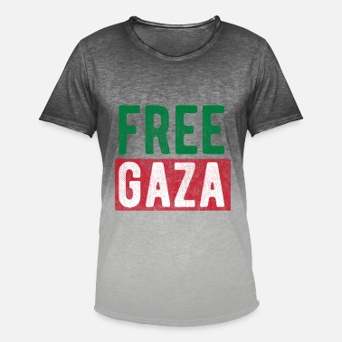 Free Gaza Free Gaza Palestine - Men's T-Shirt with colour gradients