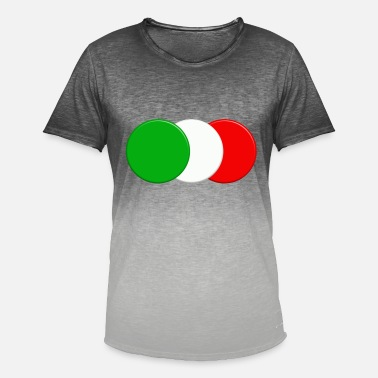 Italian Design Italian flag - Men's Colour Gradient T-Shirt