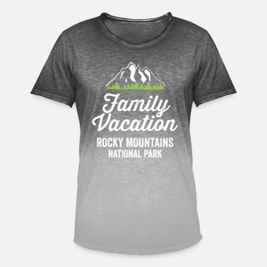 Rocky Mountains Nationaal de Familieoverhemd van Rocky Mountains - Mannen T-shirt met kleurverloop