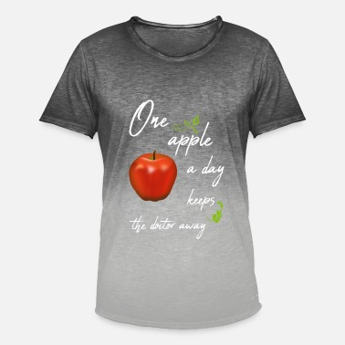 One Äppler A Day one apple a day keeps the doctor away / Apfel - Männer T-Shirt mit Farbverlauf