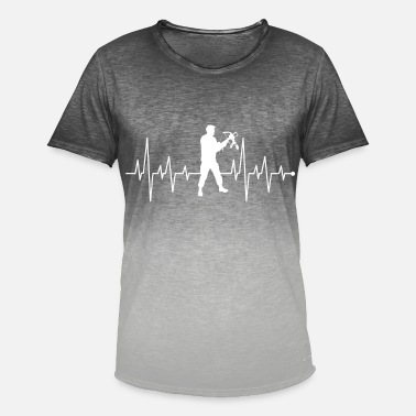 Pulse Heart Rate Heartbeat Heart Rate Pulse Rate Crossbow Shirt - Men's Colour Gradient T-Shirt