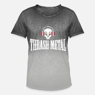 Thrash Regalo musical de Thrash Metal - Camiseta degradada hombre