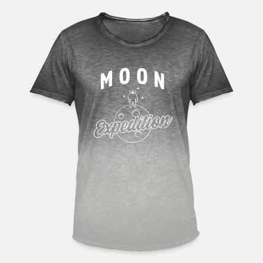 Expedition Moon Expedition - Moon Exploration - T-shirt med färgtoning herr