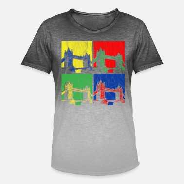 Tower Bridge Tower Bridge - T-shirt i colour-block-optik mænd