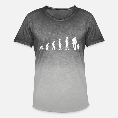 Evolution Father Father and child - evolution - Men's T-Shirt with colour gradients