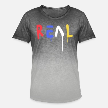 Birthday Graphics Real Graphic - Men's T-Shirt with colour gradients