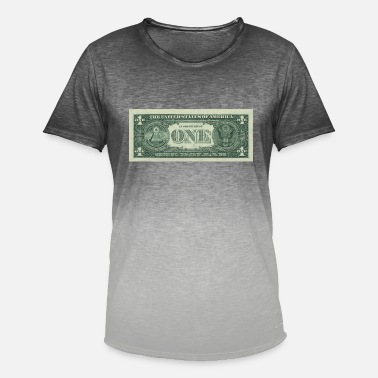 Dollarseddel Dollar Note 1 $ Seddel - Herre T-shirt i colour-block-optik