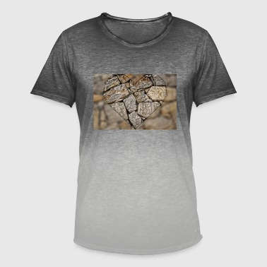 Stone Love Stone Heart - Men's T-Shirt with colour gradients