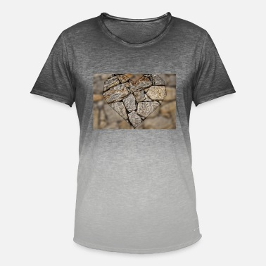 Stoned Love Stone Heart - Men's T-Shirt with colour gradients