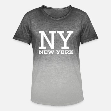 New York City NY New York White - Men's T-Shirt with colour gradients