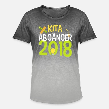 School Day KITA ABGÄNGER school child enrollment elementary school - Men's T-Shirt with colour gradients