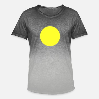 Circle Sun yellow circle sun in the heart - Men's T-Shirt with colour gradients