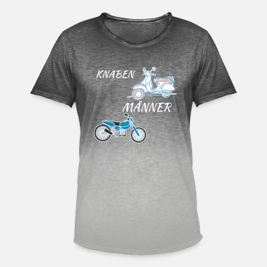 Scooter Boy motorcycle biker mopet scooter men boys - Men's T-Shirt with colour gradients