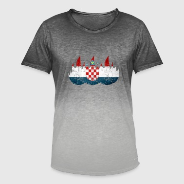 Eastern Europe Croatia Zagreb Eastern Europe - Men's T-Shirt with colour gradients
