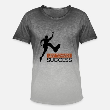 Leap Leap towards success - leap to success - Men's T-Shirt with colour gradients