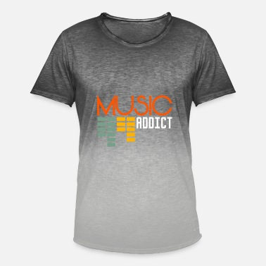 Music Addicted Music Addict music addict - Men's Colour Gradient T-Shirt