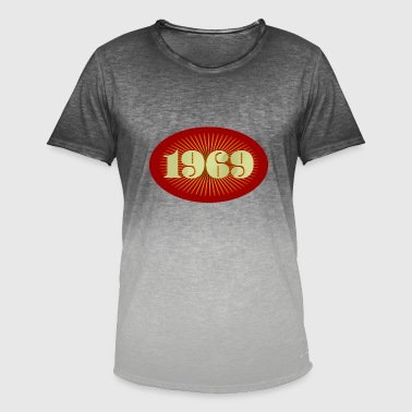 Born in 1969 - Men's T-Shirt with colour gradients