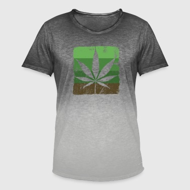 Cannabis Sativa Cannabis leaf Sativa - Men's T-Shirt with colour gradients