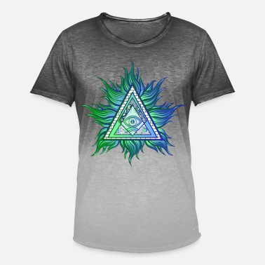 All Seeing Eye illuminati Control - Men's Colour Gradient T-Shirt