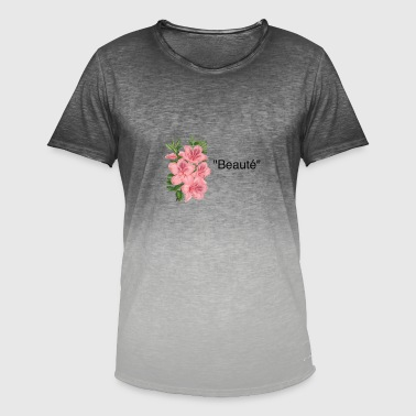 Fine Art Flower Art (Fine Art) - Men's T-Shirt with colour gradients