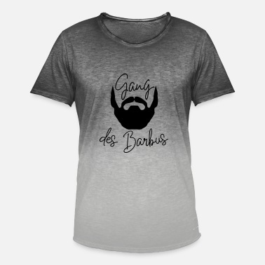 Beard Dad Gang of the bearded - Men's T-Shirt with colour gradients