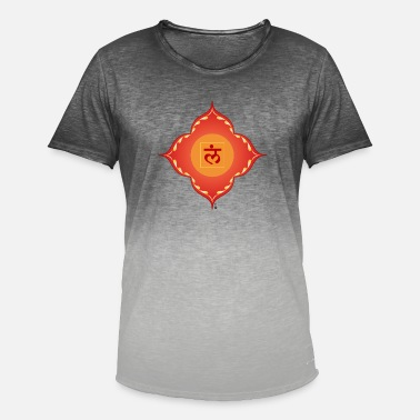 muladhara chakra - Men's T-Shirt with colour gradients
