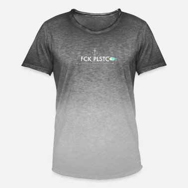 Plastic Pollution Anti plastic for the environment - Men's T-Shirt with colour gradients