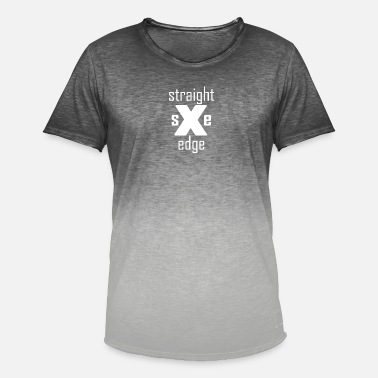Sxe Straight Edge sXe - Men's T-Shirt with colour gradients