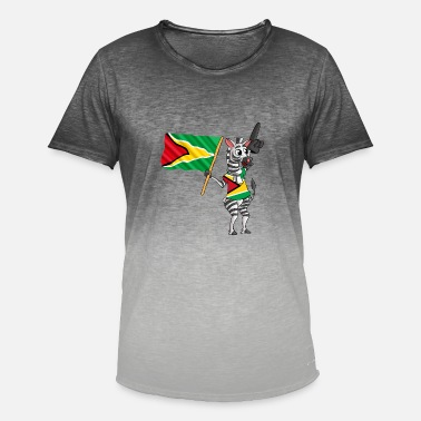 Guyana Guyanas Zebra - T-shirt i colour-block-optik mænd