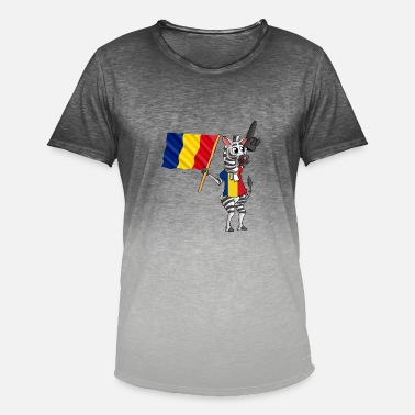 Romanians Romanian zebra - Men's Colour Gradient T-Shirt
