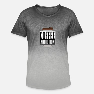 Coffee Addiction Coffee addiction, coffee addiction - Men's T-Shirt with colour gradients