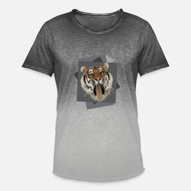 Gynger Gyngende Tiger - Herre T-shirt i colour-block-optik