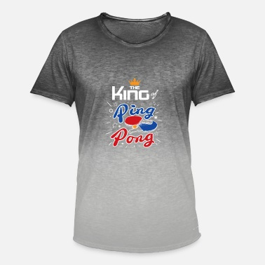 Pingpong King of pingpong gift - Men's T-Shirt with colour gradients